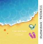 vector illustration of summer... | Shutterstock .eps vector #96536311