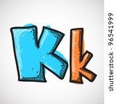 letter k from candy alphabet.... | Shutterstock .eps vector #96541999
