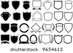 various shields and crests | Shutterstock .eps vector #9654613