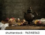 Still Life With Apples And Nuts