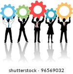 team of business tech people... | Shutterstock .eps vector #96569032