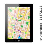 touch screen tablet pc gps.... | Shutterstock .eps vector #96572119