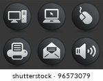 computer icons on black... | Shutterstock .eps vector #96573079
