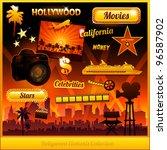 hollywood cinema movie elements ... | Shutterstock .eps vector #96587902