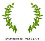 laurel wreath made by fresh... | Shutterstock . vector #96591775
