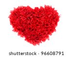 valentines day paper heart on... | Shutterstock . vector #96608791