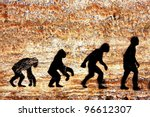 Grunge Background Of Human...
