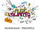 Illustration Of Music Unlimite...