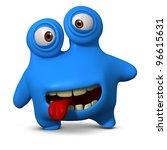 Crazy Blue Monster