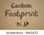 Carbon Footprint Written In...