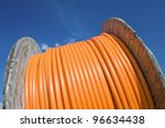 cable drum  fibre optic. | Shutterstock . vector #96634438
