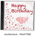 happy birthday cd. | Shutterstock . vector #96637588