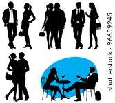 several people   vector... | Shutterstock .eps vector #96659245