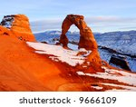 Snow At Delicate Arch At Arche...
