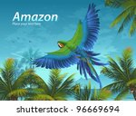 amazon. tropical background... | Shutterstock .eps vector #96669694