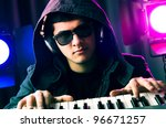 dj mixing music at disco | Shutterstock . vector #96671257