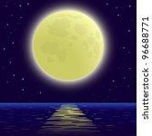 night sea landscape background  ... | Shutterstock .eps vector #96688771