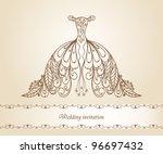 wedding dress  raster    Shutterstock . vector #96697432