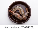 big fresh tiger prawns  king... | Shutterstock . vector #96698629