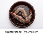 big fresh tiger prawns  king... | Shutterstock . vector #96698629
