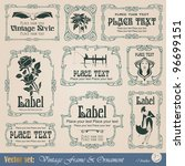 vintage style labels on... | Shutterstock .eps vector #96699151