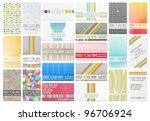 variety of 22 beautiful... | Shutterstock .eps vector #96706924