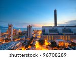 cement plant and power sation... | Shutterstock . vector #96708289