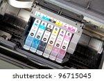 multiple printer cartrigdes | Shutterstock . vector #96715045