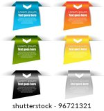 web labels or banners | Shutterstock .eps vector #96721321
