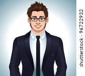 young businessman   vector... | Shutterstock .eps vector #96722932