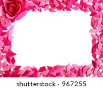 rose and confetti frame | Shutterstock . vector #967255