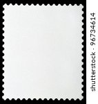 blank postage stamp framed by... | Shutterstock . vector #96734614