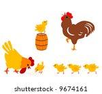 chicken family | Shutterstock .eps vector #9674161