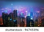 hong kong night view | Shutterstock . vector #96745396