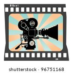 abstract background with movie... | Shutterstock .eps vector #96751168