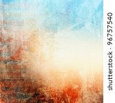 grunge colorful texture  blue... | Shutterstock . vector #96757540