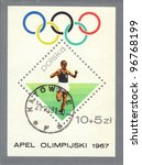 poland   circa 1967  a stamp... | Shutterstock . vector #96768199