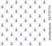 vector anchor pattern | Shutterstock .eps vector #96775774