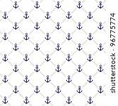 vector anchor pattern   Shutterstock .eps vector #96775774