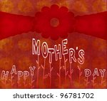 happy mothers day poster on... | Shutterstock . vector #96781702