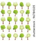 vector tree set | Shutterstock .eps vector #96784105