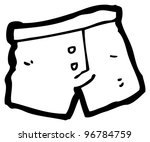 cartoon boxer shorts | Shutterstock . vector #96784759