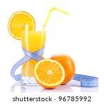orange juice with waistline... | Shutterstock . vector #96785992