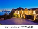 luxury house with gorgeous... | Shutterstock . vector #96786232