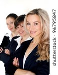 three business women standing... | Shutterstock . vector #96795847