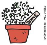 cartoon herb pot | Shutterstock . vector #96799069