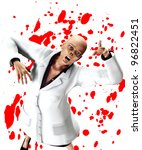 zombie nurse that is covered in ...   Shutterstock . vector #96822451