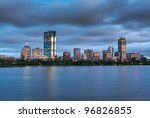 A Sunset View Of Boston Across...