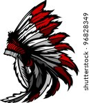 graphic native american indian... | Shutterstock .eps vector #96828349