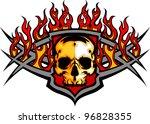 graphic skull vector image...